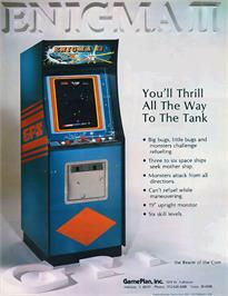Advert for Enigma II on the Arcade.
