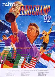 Advert for Euro Champ '92 on the Arcade.