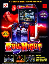 Advert for Evil Night on the Arcade.