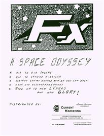 Advert for F-X on the Arcade.