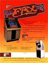 Advert for FAX on the Arcade.
