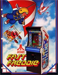Advert for Fast Freddie on the Arcade.