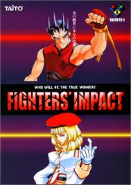 Advert for Fighters' Impact on the Arcade.