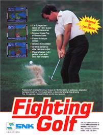 Advert for Fighting Golf on the Arcade.