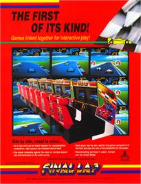 Advert for Final Lap on the Arcade.