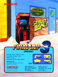 Advert for Final Lap 3 on the Arcade.