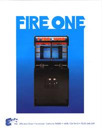 Advert for Fire One on the Arcade.