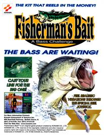 Advert for Fisherman's Bait - A Bass Challenge on the Arcade.