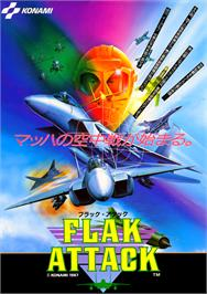 Advert for Flak Attack on the Arcade.