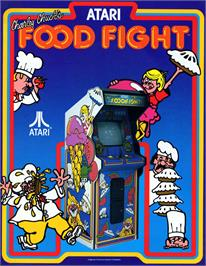 Advert for Food Fight on the Atari 8-bit.