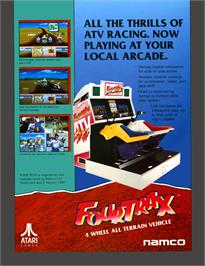 Advert for Four Trax on the Arcade.