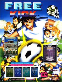 Advert for Free Kick on the Arcade.