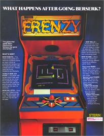 Advert for Frenzy on the Arcade.