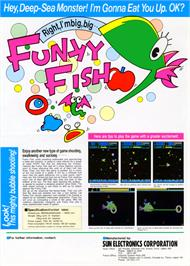 Advert for Funky Fish on the Emerson Arcadia 2001.