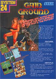 Advert for Gain Ground on the NEC TurboGrafx CD.