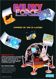 Advert for Galaxy Force 2 on the Sega Genesis.