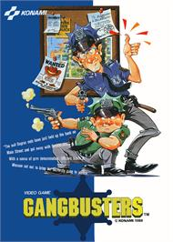 Advert for Gang Busters on the Arcade.