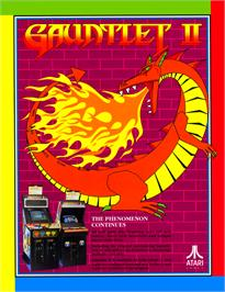 Advert for Gauntlet II on the Arcade.