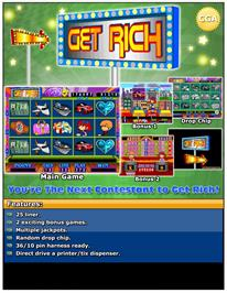Advert for Get Rich on the Arcade.