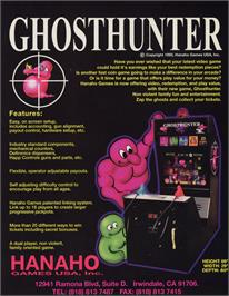 Advert for Ghost Hunter on the Arcade.