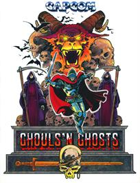 Advert for Ghouls'n Ghosts on the Arcade.