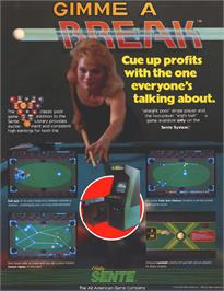 Advert for Gimme A Break on the Arcade.