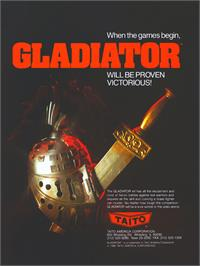 Advert for Gladiator on the Arcade.