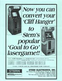 Advert for Goal To Go on the Arcade.