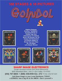 Advert for Goindol on the Arcade.