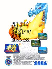 Advert for Golden Axe on the Arcade.
