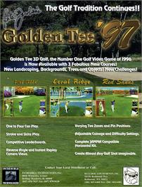 Advert for Golden Tee '97 Tournament on the Arcade.