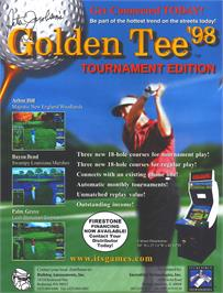 Advert for Golden Tee '98 Tournament on the Arcade.