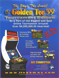 Advert for Golden Tee '99 Tournament on the Arcade.