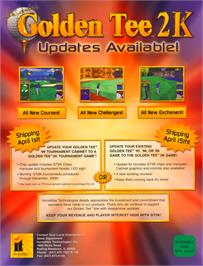 Advert for Golden Tee 2K on the Arcade.
