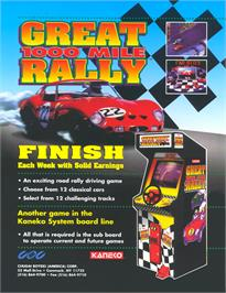 Advert for Great 1000 Miles Rally: U.S.A Version! on the Arcade.