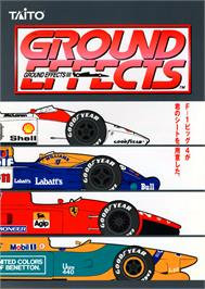 Advert for Ground Effects / Super Ground Effects on the Arcade.