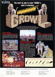 Advert for Growl on the Sega Genesis.