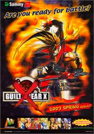 Advert for Guilty Gear XX on the Sega Naomi.