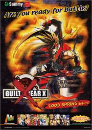 Advert for Guilty Gear X on the Arcade.