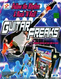 Advert for Guitar Freaks on the Arcade.