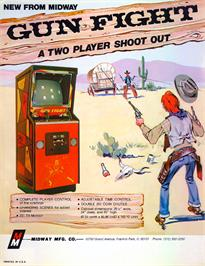 Advert for Gun Fight on the Arcade.