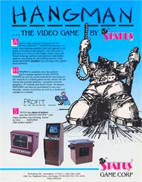 Advert for Hangman on the Atari 2600.