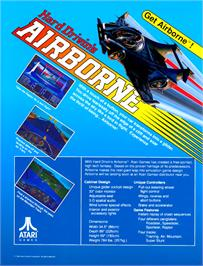 Advert for Hard Drivin's Airborne on the Arcade.