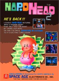 Advert for Hard Head 2 on the Arcade.