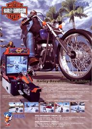 Advert for Harley-Davidson and L.A. Riders on the Arcade.