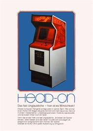 Advert for Head On on the Arcade.