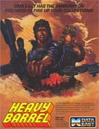 Advert for Heavy Barrel on the Microsoft DOS.