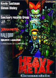 Advert for Heavy Metal Geomatrix on the Arcade.