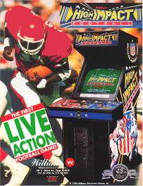 Advert for High Impact Football on the Arcade.