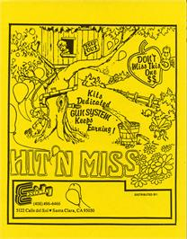 Advert for Hit 'n Miss on the Arcade.